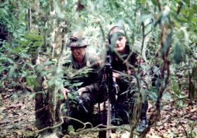 'Bob' Sharp and 'Jono' Thonas, A Coy, 2 PARA, Belize, 1983.