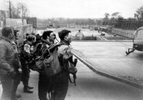 Bessbrooke helipad Co Armagh, 1976.