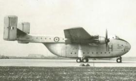 Blackburn Beverley aircraft on  a runway.
