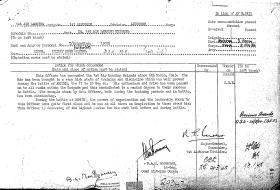 Citation for the award of the CBE to Brigadier Hicks, Arnhem, 1945