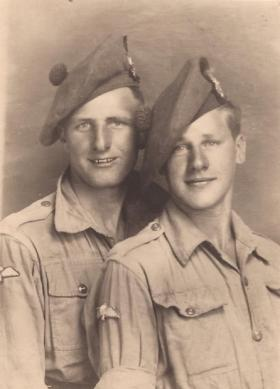 Ptes William A Ramsay and William Varney, Italy 1943.