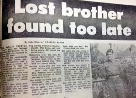 Article from the Bournemouth Echo, 29 August 1984.