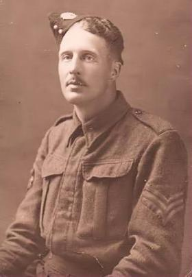 Sgt Colin L Bliss while serving with the Beds and Herts.