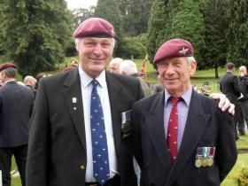 Bob Hilton and Tommy Simpson, Aldershot Military Cemetery, Saturday 7 July 2012.
