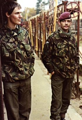 Bob Hilton (left) and Alex McInnes at Ash Ranges, 1982.