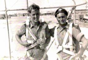 Bobby Rankin and Alex Dunbar,C Coy 1 PARA, Canal Zone. 1951.