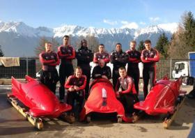 3 PARA Bobsleigh Team, Igls Austria, March 2014.