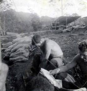 Members of  B Coy 2 PARA, the morning after the Battle of Plaman Mapu, 28 April 1965.