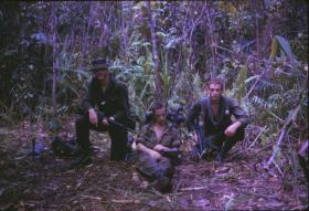 2 PARA soldiers on patrol, Borneo, 1965