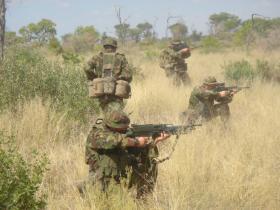 Pathfinders training in Botswana, 2005.