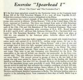 Exercise Spearhead I Report 1952