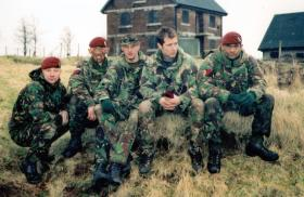 Members of 13 Air Assault Support Regiment RLC, Brecon, 2000.