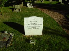 The final resting place of Brian the Para Dog, Essex 2012.