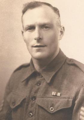 Sgt Brian Quinn, France, 1945.