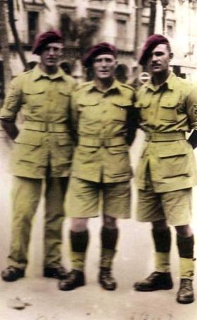L/Sgt Royles, Sgt Quinn and Sgt Chambers of B Coy, 3rd Para Bn, Algeria, 1943.