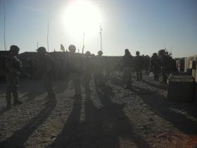 A Patrol Prepares to Depart from Patrol Base 1, Afghanistan, 2010