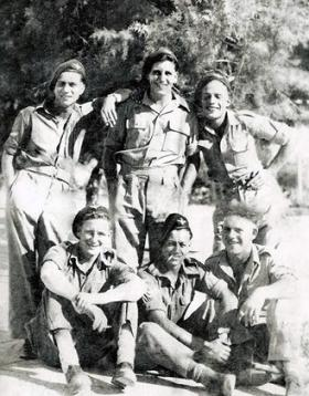 Members of 7th (Light Infantry) Parachute Battalion, possibly Palestine.