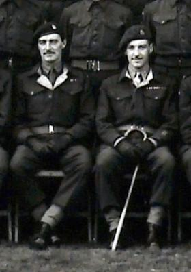Brothers: Captain A F Murray and Lt Col F Murray, 127 PFA, October 1945.