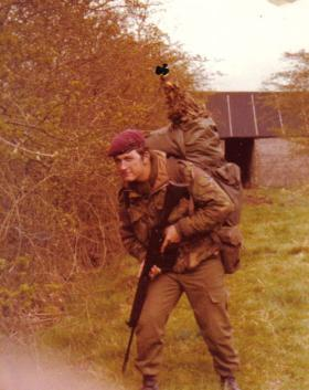 Pte Martin Broughton in South Armagh, 1978