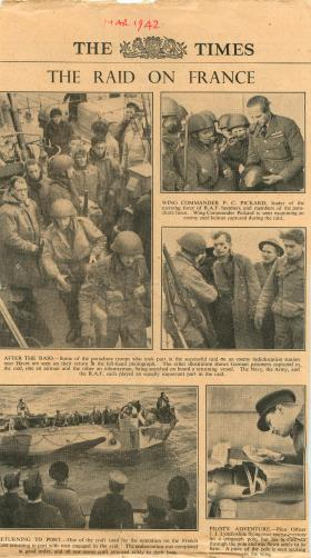 Contemporary report on the Bruneval raid