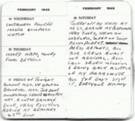 Sgt Lutener's diary entry for 27 February 1942, Operation Biting.