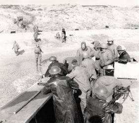 Landing craft practice for Bruneval, 1942.