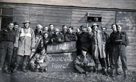 Members of 181 AL Fd Amb at Bulford on their return from Bruneval, 1942.