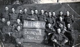 Members of 181 AL Fd Amb on their return from Bruneval, 1942.