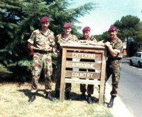 Cpl Jed Allison, Cpl 'Billie'  Hendrie, Cpl Brunn and Cpl David Brereton, D Coy , 4 PARA, Vicenza Italy 1988.
