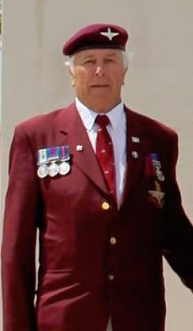 Bryan Dodsworth at The Airborne Forces and Parachute Regiment Memorial, NMA, Alrewas.