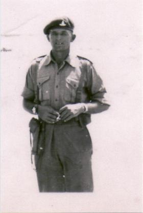 BSM 'Paddy' Parker, 33rd Para Field Regiment RA, Exercise Snowdrop, Cyprus, April 1953.