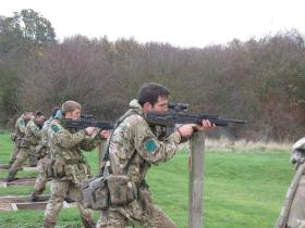 Shooting as part of the Budd VC/Absolon MM Military Skills Competition, 3 PARA, Colchester, November 2012.