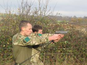 Small arms shooting, Budd VC/Absolon MM Military Skills Competition, 3 PARA, Colchester, November 2012.