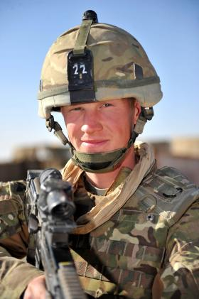 A Gunner, who became known as 'Bullet Magnet', from 7 PARA RHA, Afghanistan, 2010