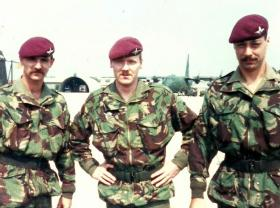 Cpls Brereton, Hendrie and Allison, D Coy , 4 PARA, Vicenza Italy 1988.
