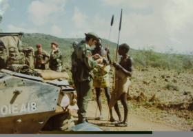 Para Sqn RAC on exercise Africa, early 1970s