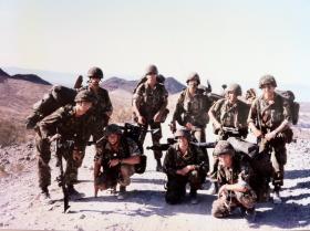 Mortar Detachment, attached to C Coy, 1 PARA, Mojhave Desert, 1986.