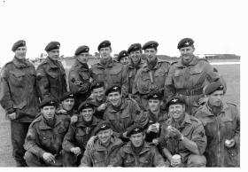 Group photograph of C Coy, 17th (DLI) PARA, circa mid 1960s