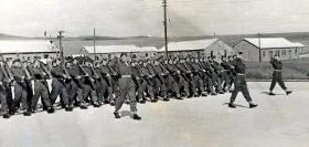 C Coy 4th Para Bn, King's Birthday Parade June 1947 Ogborne St George.
