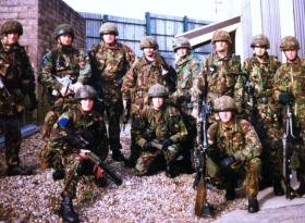 Members of 2 PARA, Callsign N10A, Forkhill SF Base, South Armagh, 1996-7.