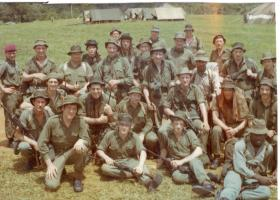 Members of 4 PARA jungle warfare training Jamaica, 1972