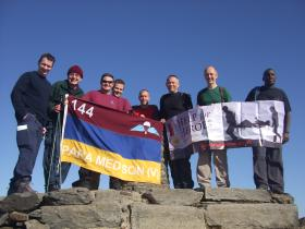 Members of 144 Para Med Sqn H4H Three Peaks Challenge - Snowdon