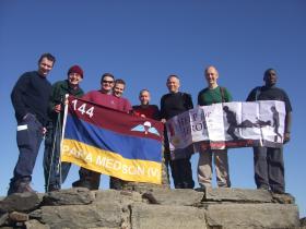 Members of 144 Para Med Sqn H4H Three Peaks Challenge - Snowdon