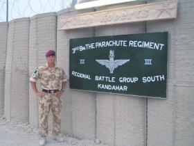 Cpl Connolly, Outside Camp Roberts, Kandahar Air Field (KAF), Afghanistan, Summer 2008.