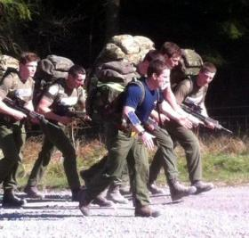 C Company Recruits, 4 PARA on a 10 mile TAB, June 2015.