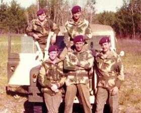 Members of 7 PARA RHA, Canada, 1976.