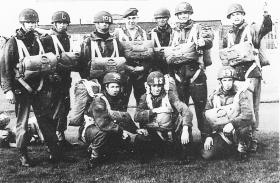 Members of a parachute training course, RAF Abingdon, December 1960.