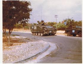 Canadian Forces delivering Finnish troops to Para Sqn RAC, RAF Nicosia