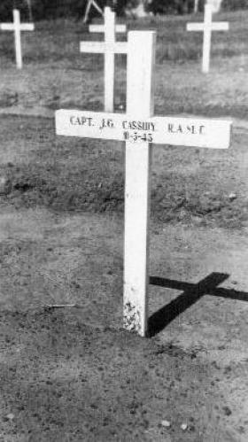 Capt Cassidy's Grave, Tabarka Ras Rajel War Cemetery, Tunisia.