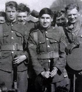 Captain Lionel Queripel VC as a Corporal in Marlborough House Platoon, Marlborough College, date unknown.